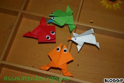 Grenouille sauteuse en origami - Origami grenouille sauteuse pdf ...